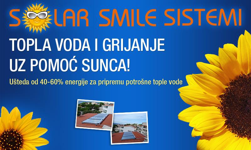 SOLAR SMILE sistemi - topla voda i grijanje uz pomoć sunca!